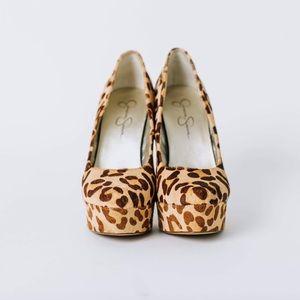 Jessica Simpson Leopard Print Platform Stiletto